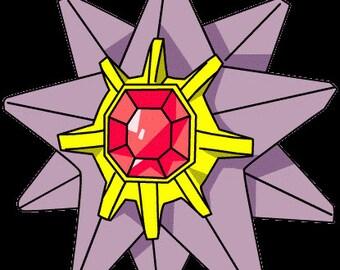 Starmie, Pokemon Go, Embroidery Machine Patterm