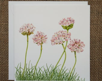 Thrift Greetings Cards,Sea pink