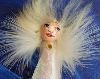 Angel fairy peg doll