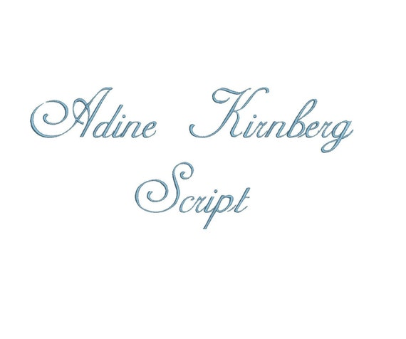 Knitting Fonts For Mac : Adine kirnberg script embroidery font bx compatible with