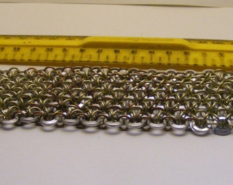 Wide Chainmail Bracelet