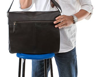 Leather messenger - messenger bag - leather bag - leather satchel - mens leather bag - leather bag men - mens messenger bag - mens bag
