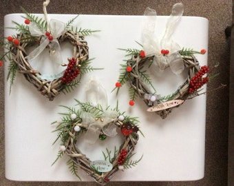 Mini Heart Christmas Wreath