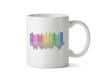 Colour Block Pattern Mug