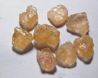 Top- 8 pcs. rough Morganite loose gemstone, Morganite rough gemstone, Natural Morganite gemstone rough, Morganite loose stone 78 Cts. R-2064