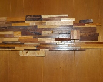 Danish Modern, Eames Era Styled Hard Wood Wall Art