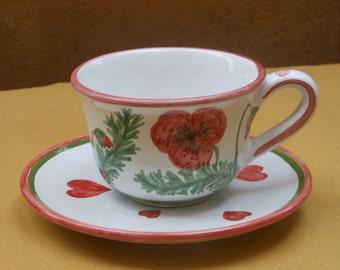 poppy mug, cup