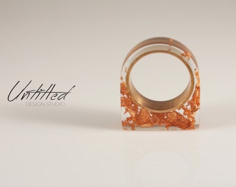 Untitled - Resin & Leaf Ring