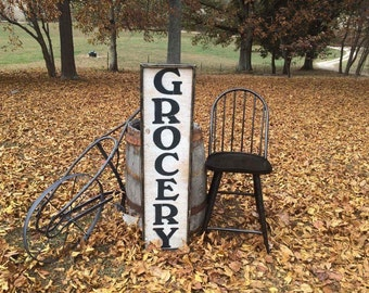 "Handcrafted wooden ""GROCERY""  sign"