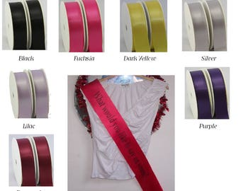 Personalised Sashes any occasion, Hen Night, Prom, Beauty Pageant, Sports, Winner Sash, Mum to Be, Birthdays, Slimmer, Sports, Custom made