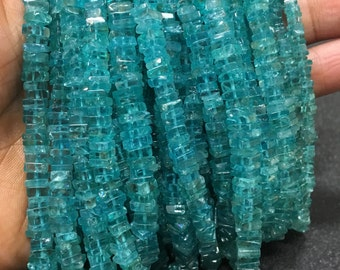 Sky apatite heishi cut square shaped beads,5-5.30MM,16 inch strand approx