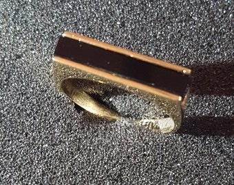 Mens ring , 14k gold ring, Black Onyx Ring