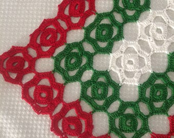 Fine Crochet Christmas Placemats and Runner Set