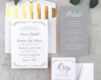 Vine + Branch Wedding Invitations