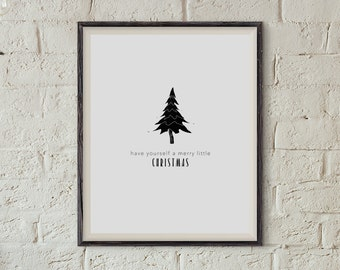 Merry Little Christmas - Modern Minimal Print download