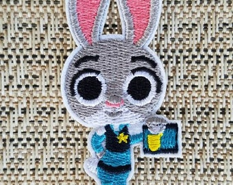 Judy Hopps iron on inspired patch, Judy Hopps birthday party costume inspired patch