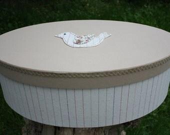 Baptism/Christening Box Carriage/Baptism Fabric Keepsake Box/Christening Box/Linen Fabric Storage Box