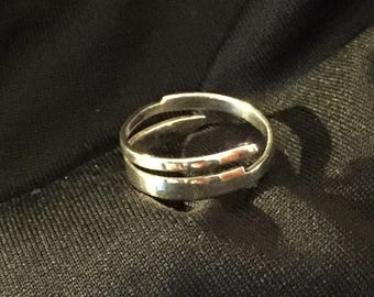 Sterling silver wrap around band size 9 1/2