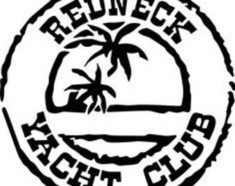 Redneck Yacht Club Decal