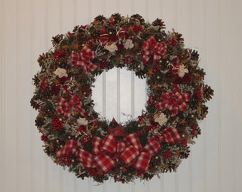 Pinecone Christmas Wreath