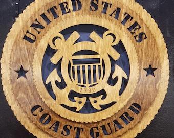 "12""United States Coast Guard wall tribute"