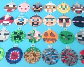 Minecraft Christmas ornament perler bead