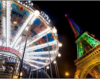 Carousel at the foot of the Eiffel Tower - 1 of 30 copies - limited edition