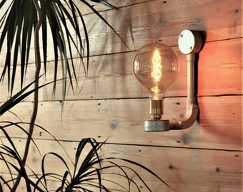 Industrial Vintage Style Wall Light, plus LED Filament Lamp