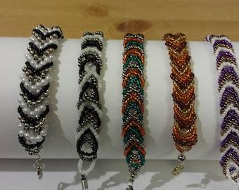 triple-braid beaded bracelet