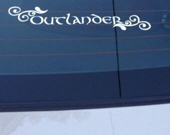 "Outlander Decal ""Outlander"",  Outlander car decal"
