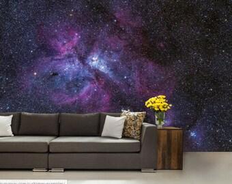 Galaxy wall mural, wall mural stars, nebula wall mural, ceiling galaxy, STAR wallpaper, space star wall mural, nebula wallpaper, ceiling