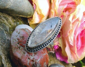 Superb protection Tourmalated Quartz ring size 55 or US 7