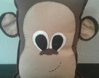 Monkey decorative pillow plushie