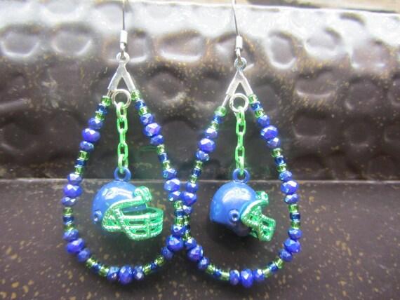 Seahawks earrings