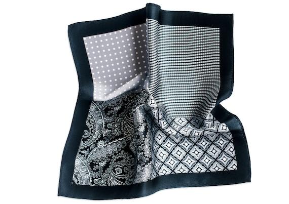 Silk Pocket Square Mood Swings Grey