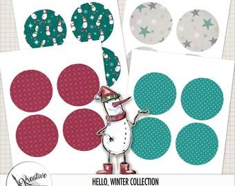Hello, Winter Printable Paper Ornaments