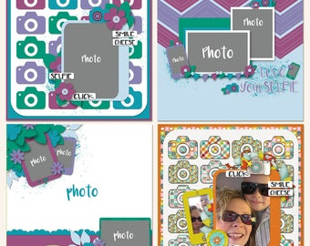 Love Yourselfie Digital Scrapbooking Templates in  PSD, TIF and  PNG Format