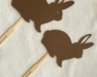 Bunny cupcake toppers set of 12