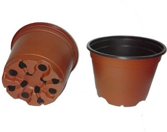 Plastic Pots for Plants, Cuttings & Seedlings, 4-Inch, 30-Pack. Color: Terracotta (FREE SHIPPING)