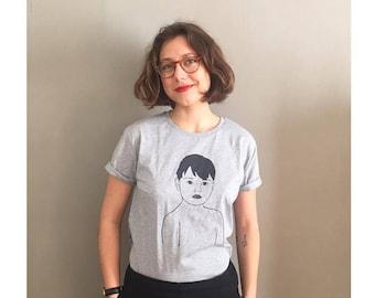 """Boy"" t-shirt - Heather grey - men - 100% cotton organic"