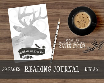 Reading Journal-Bookish Planner-Bullet Journal/BuJo Inserts-Maggie Stiefvater's Raven Cycle inspired-A5-Calendars (2017 + 2018)-PDF Download
