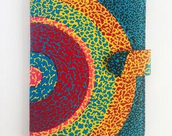 "10"" Ankara Super Sun Tablet Case // Notepad Holder & Cover // African Print // Graduation Gift // SALE!!! 45% OFF"