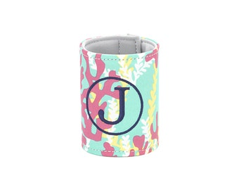 Personalized Can Cooler/ Personalized Reef Can Cooler/ Monogram Can Cooler/ Can Cooler with Initials/ Can Cooler with Monogram