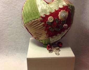 Beautifully handmade Christmas heart