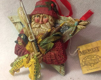 Fish Tales Santa from Pam Shifferl 6+ inches by 5+ inches