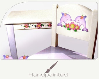 Child Table Handpainted Dolphin