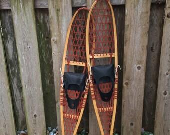 "Wood Snowshoes 57"" x 10"""
