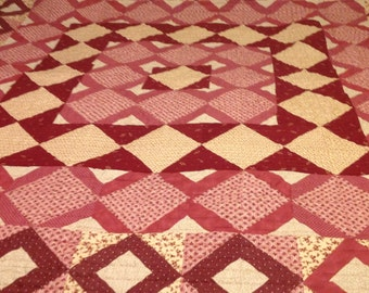 French Country Medium Weight Queen Quilt With Rich, Rustic Colors