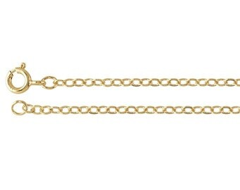 14/20 Yellow Gold-Filled 1.5mm Rolo Chain, select your length.