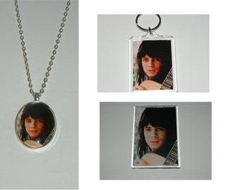 Rick Springfield Glass Pendant Necklace, Acrylic  Keychain or Magnet or set